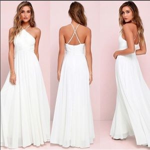 Lulus white Everlasting Enchantment Dress